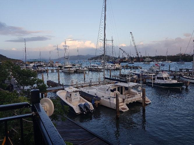 Die Aussicht auf den Hafen von Red Hook