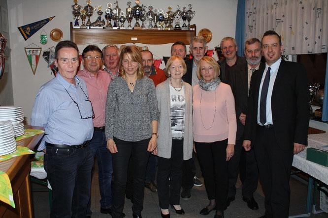 Geehrte Gründungsmitglieder und geehrte Mitglieder für 25 & 40 Jahre Vereinszugehörigkeit.