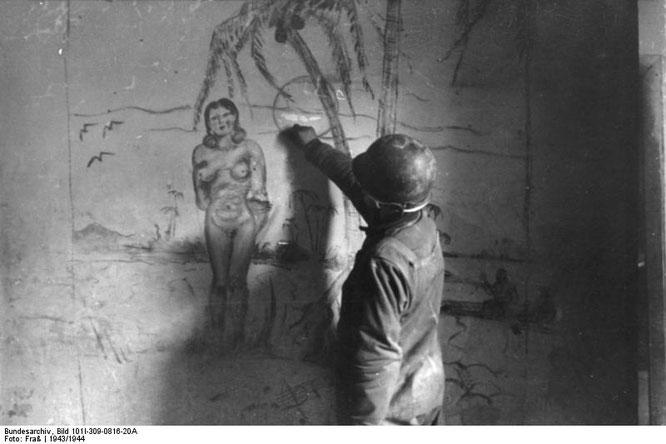 熱帯地域のファンタジーを描く兵士(1943-1944年)。Wikipediaより。