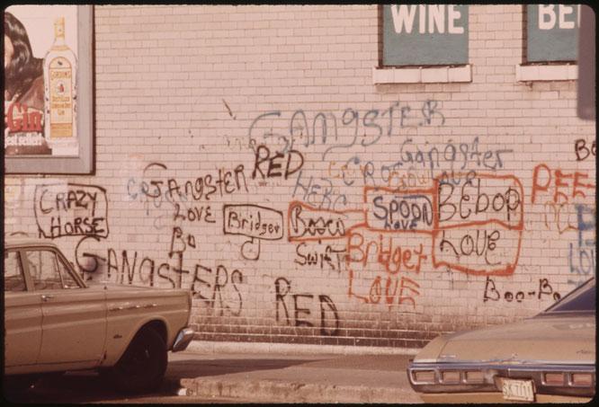 シカゴのグラフィティ(1973年)。Wikipediaより。