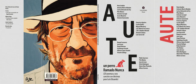 Contracubierta: retrato de Luis Eduardo Aute por su hijo Miguel Aute