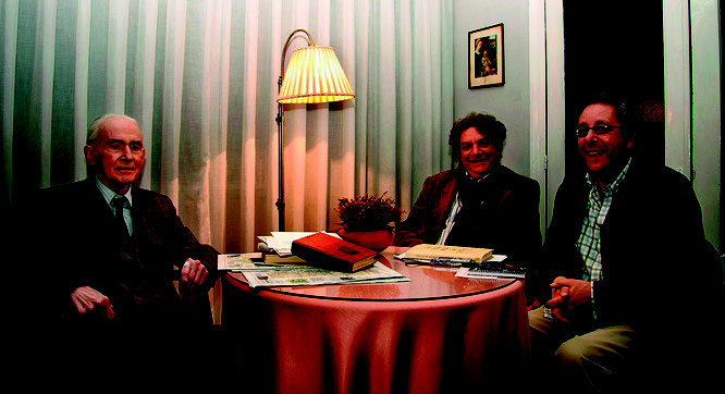 En el domicilio de Eugenio, en Sama de Langreo, el 6 deabril de 2010, con Fernando F.Tamargo.