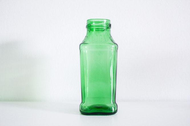 Saubere Flasche für DIY Vase