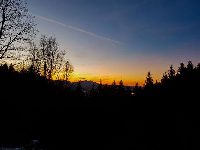 Wanderung Sonnenuntergang Tegelberg