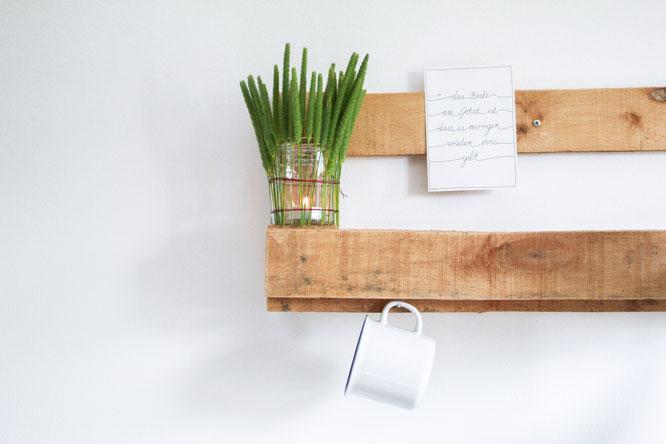 Fertiges DIY Windlicht aus Gräsern