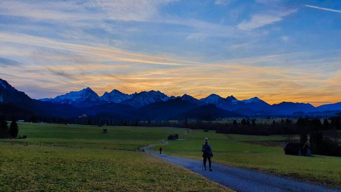 Berge Wanderung Silvester