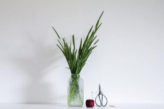 Materialien für DIY Windlicht
