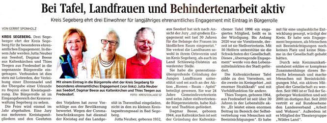Segeberger Zeitung 25.09.2020