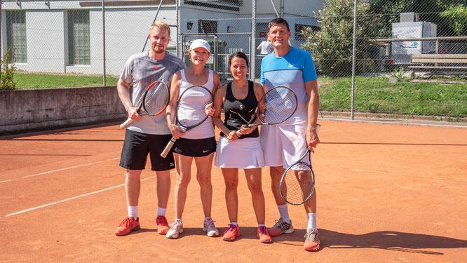 Mixed Doppel: Clubmeister Marlies / Thomas mit den Zeitplatzierten Daniela / Marc