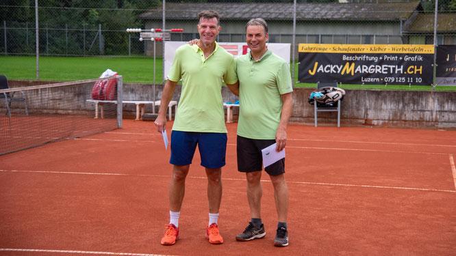 Herren Einzel: Clubmeister Röbi zusammen mit dem Zweitplatzierten Ralph