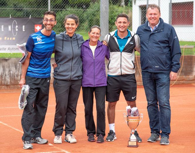 Mixed Doppel: Clubmeister Beni & Christian mit den zweitplatzierten Steffi & Alexander