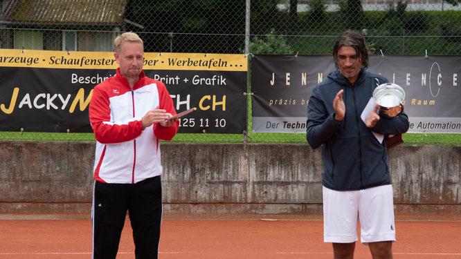 Herren Einzel: Clubmeister Ivan mit dem zweitplatzierten Thomas