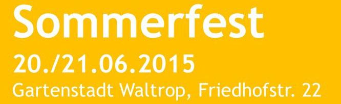 Sommerfest 2015 Gartenstadt Waltrop
