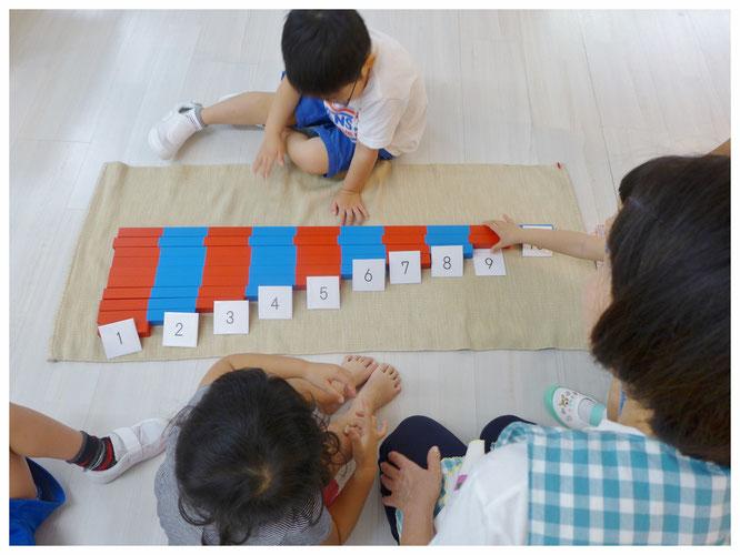 数の活動 数の棒と数カード