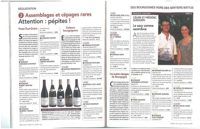 Revue des Vins de France Juillet 2015