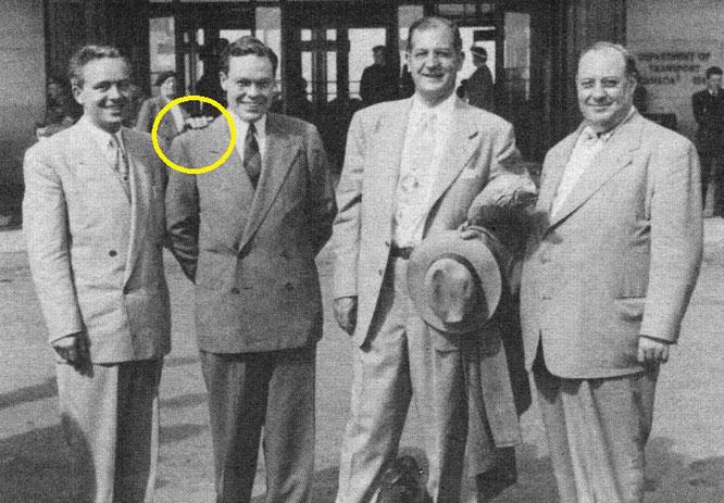 Слева Лео Гринлис, справа Перси Чепмен, а рядом с ним Нейтон Норр