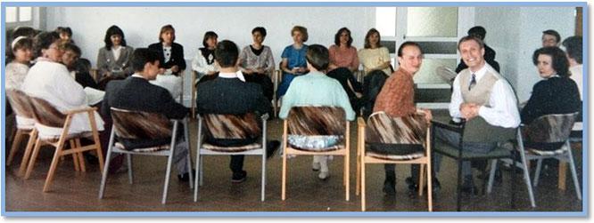 1998 год. Еженедельное совещание переводческого отдела по четвергам, которое всегда проводил Черепанов