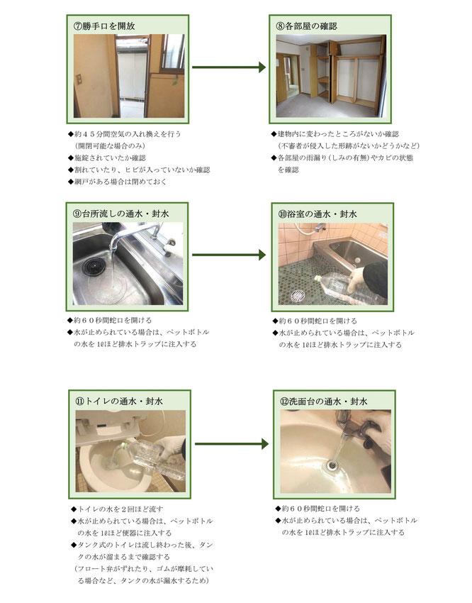 ベーシックプラン-空き家管理サービス作業手順⑦~⑫