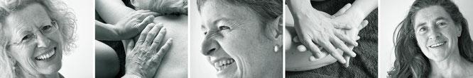Erblühende Weiblichkeit, Barbara Schmid, Heilmassagen für Frauen, Massageangebote, Porträts, Hände