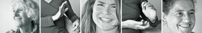 Erblühende Weiblichkeit, Barbara Schmid, Integrative Beratung IBP, Beratungsangebot, Frauen, Porträts, Hände, Gespräch