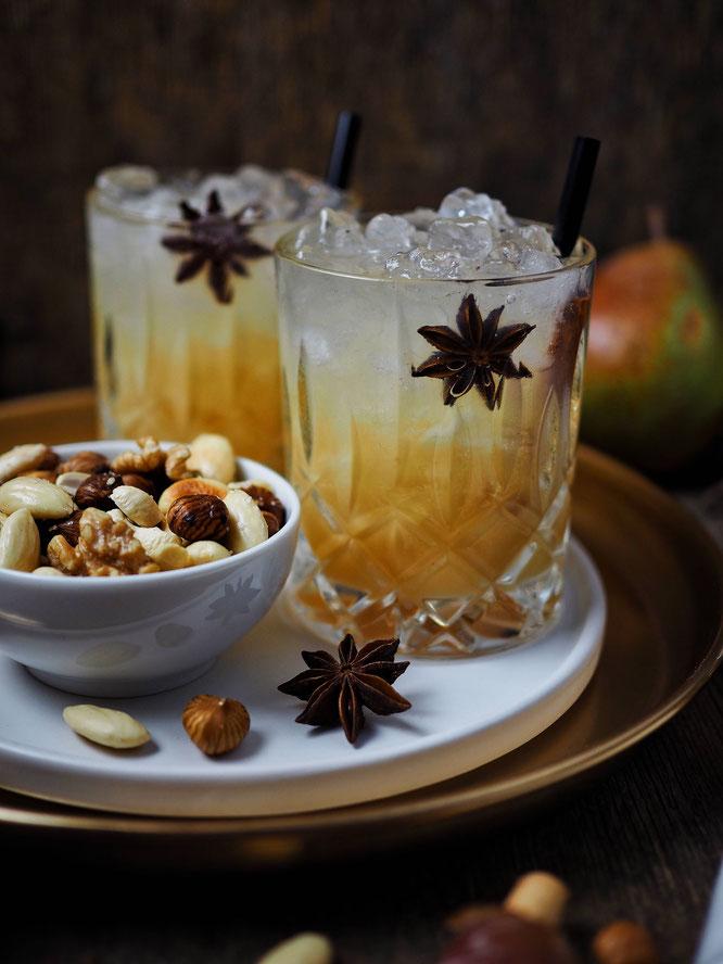 Weihnachtlicher Aperitif Spicy Pear und zwei schnelle Fingerfood Ideen