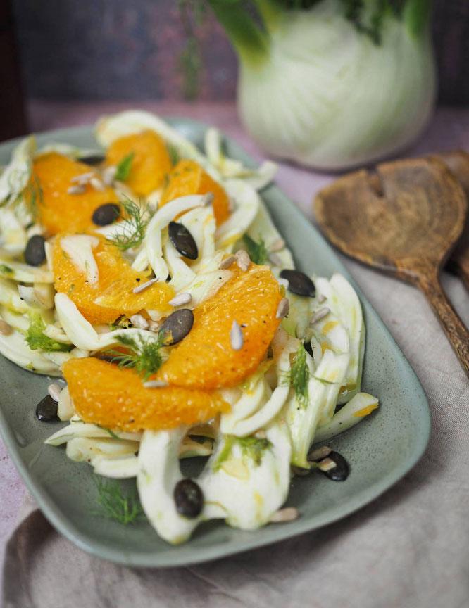 Frischer Fenchelsalat mit Orangen