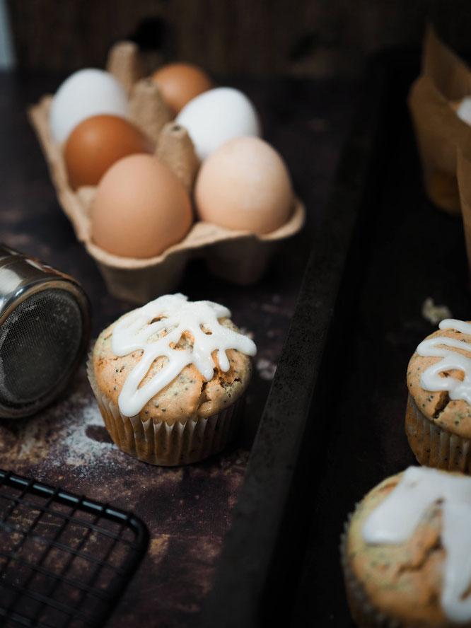 Saftige Zitronen-Mohn-Ricotta-Muffins