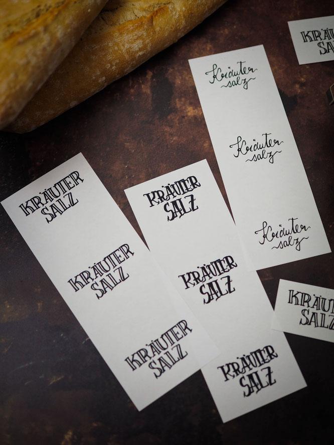 Etiketten-Freebie für selbstgemaches Kräutersalz