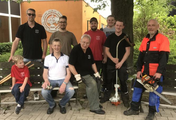 Arbeitseinsatz-Team der Germanen