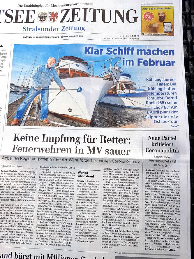 Ostseezeitung vom 26.02.2021