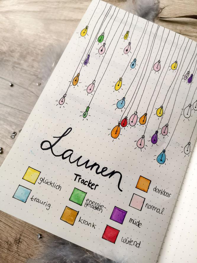Bullet journal, planer, filofax, monatsübersicht, wochenübersicht, idee, launen tracker, mood
