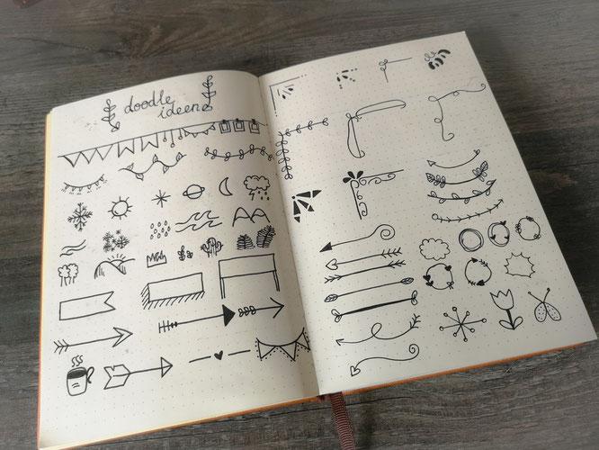 Bullet journal, wochenübersicht, filofax, planer, doodle