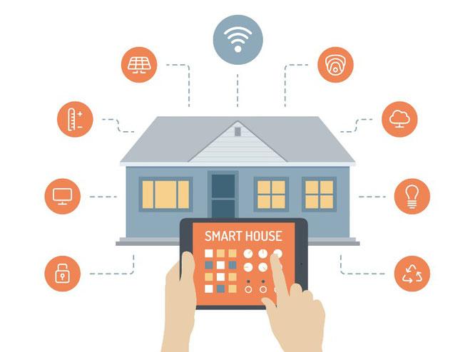 Smart, domotica, casa, impianti, connessione, tecnologia
