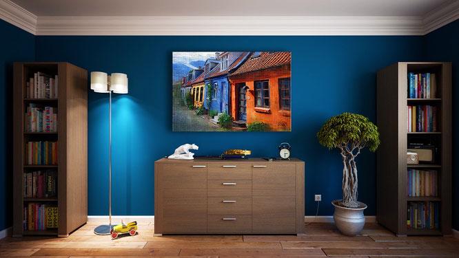 Blu intenso, interior design, arredamento, edilizia cagliari, impianti cagliari