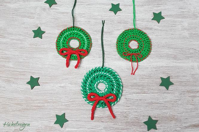 Tunisian Crochet Christmas Ornament Xmas Haekelreigen