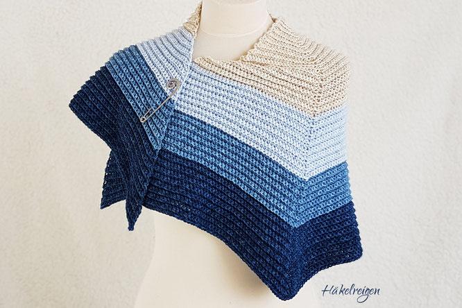 Crochet shawl Nordseestrand Haekelreigen