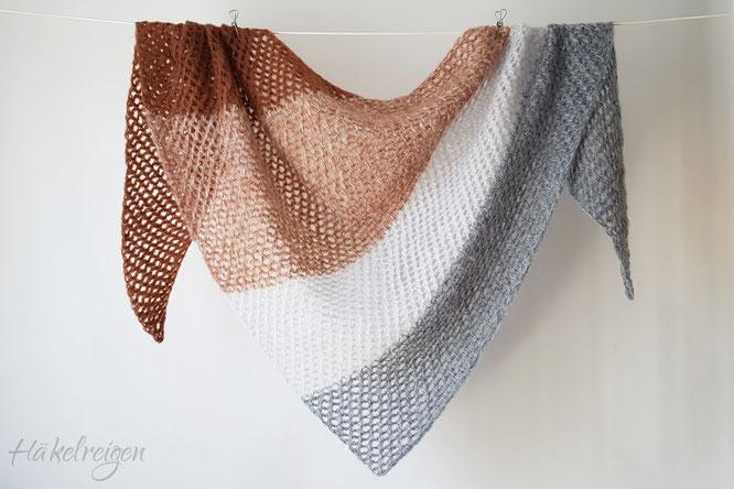 Tunisian crochet mohair shawl Zuckerwatte Haekelreigen