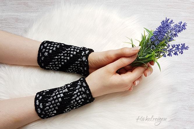 Armstulpen mit Woolly Hugs Shape Anleitung Häkelreigen