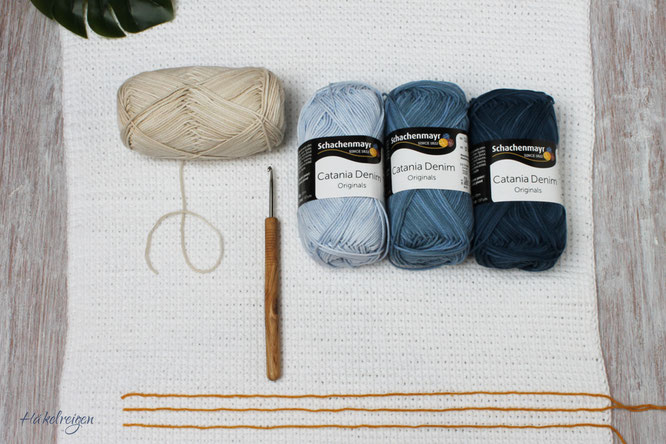 Material Crochet Shawl Nordseestrand Haekelreigen