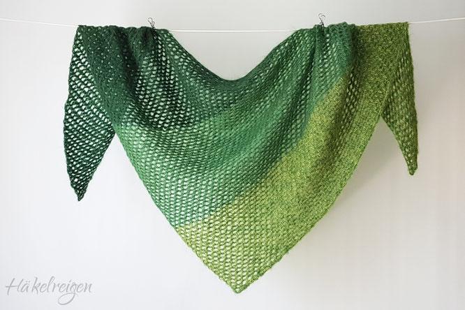 Tunisian crochet shawl Zuckerwatte Haekelreigen
