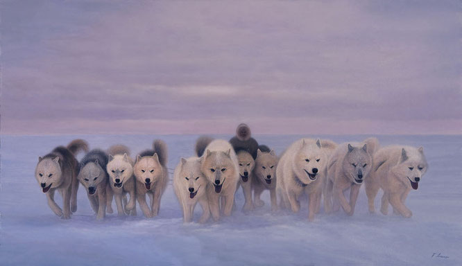 """TRAVELLERS OF THE COLD"" Husky Sled Dogs - Lorenzo Fracchetti"