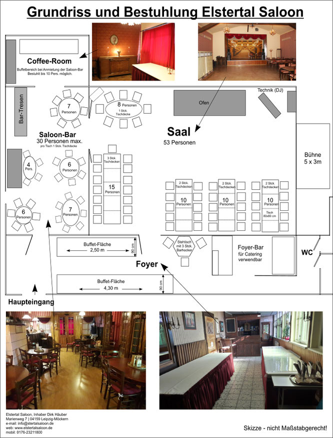 Eventlocation und Mietraum Elstertal Saloon