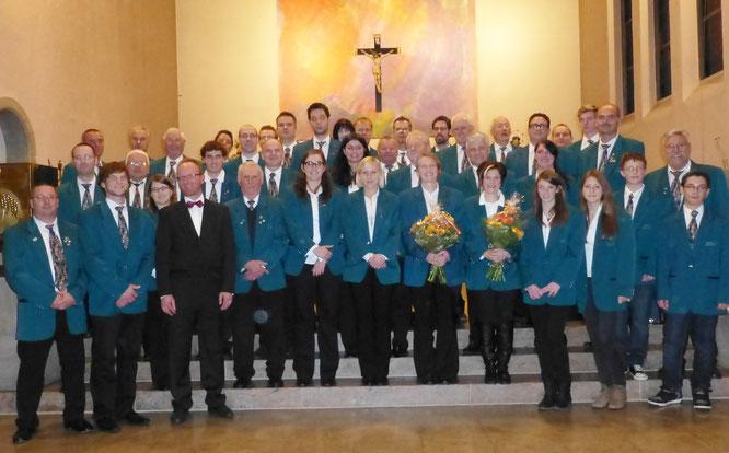 2012 - Blasorchester beim Kirchenkonzert