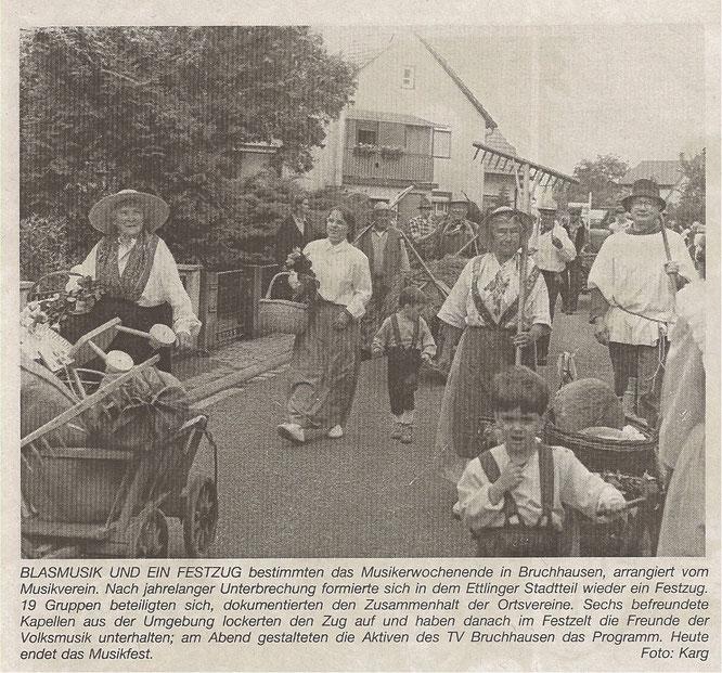 BNN Bericht 03.06.1996 - 85 Jahre Musikverein