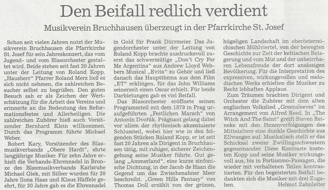 """BNN Bericht """"Konzert in St. Josef"""" 03.11.16"""