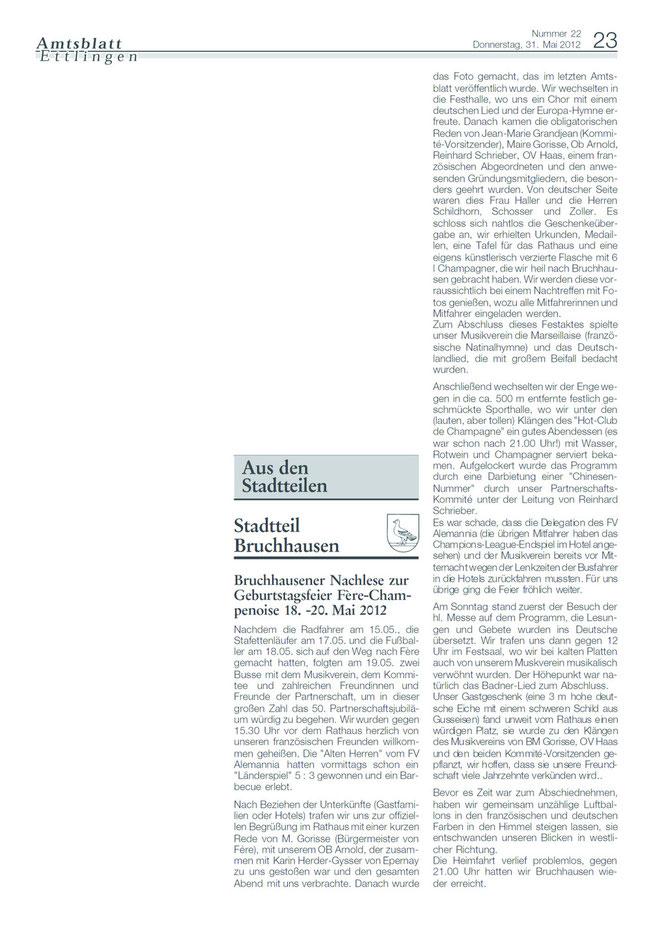 Amtsblatt Bericht 31.05.2012