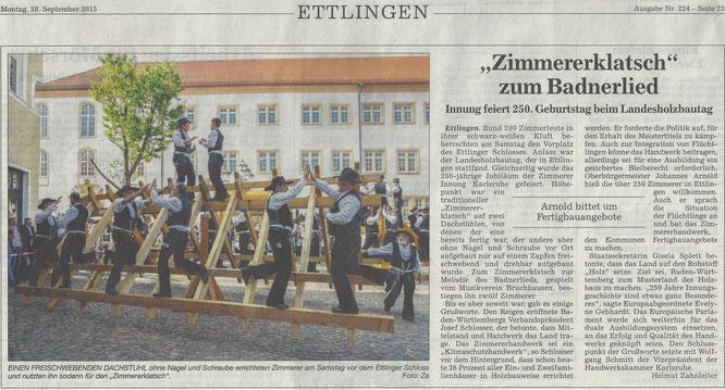 BNN Bericht Landesholzbautag Baden-Württemberg 26.09.2015