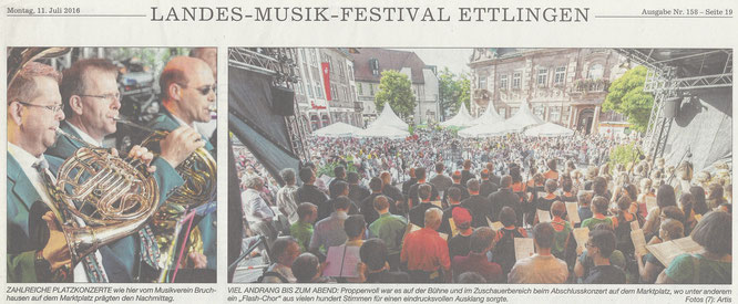BNN Bericht Landes-Musik-Festival in Ettlingen 11.07.16