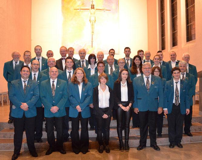 2014 - Blasorchester beim Kirchenkonzert