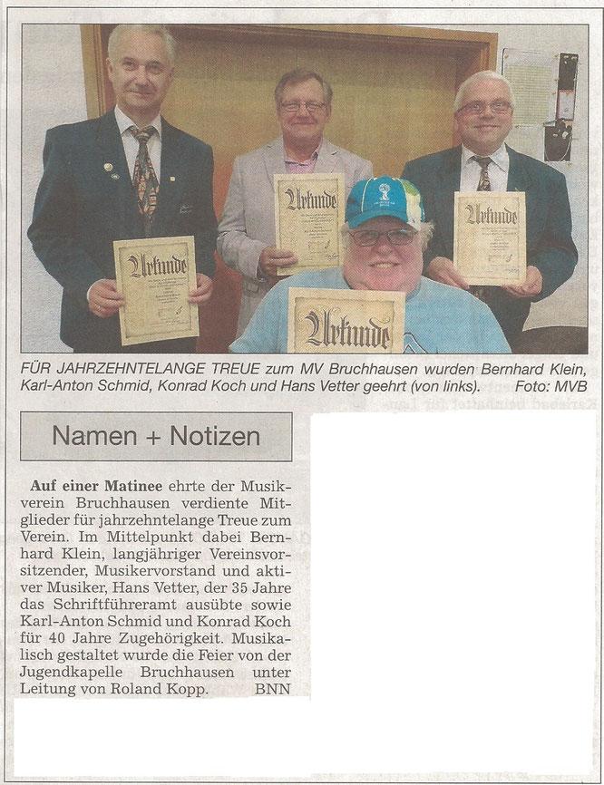BNN Bericht Ehrungsmatinee 09.11.2014